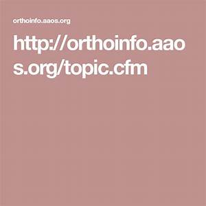 Orthoinfo Aaos Org  Topic Cfm