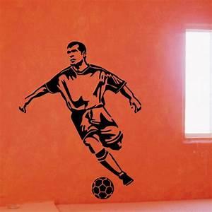70*90cm decor sticker unique playing football wall ...