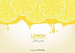 Lemon Juice Background Vector - Download Free Vector Art ...
