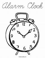 Coloring Clock Alarm Cursive Built California Usa sketch template
