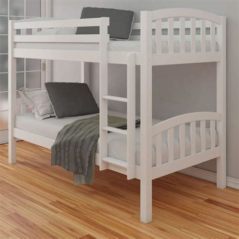 white wood size loft bed plan american white finish solid pine wooden bunk bed