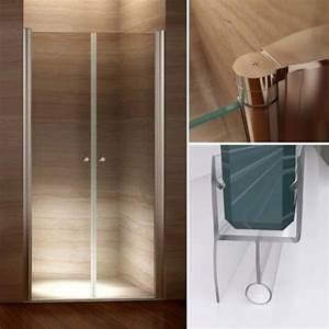 porte de douche pliante battante et coulissante douche With porte de douche double battant 90