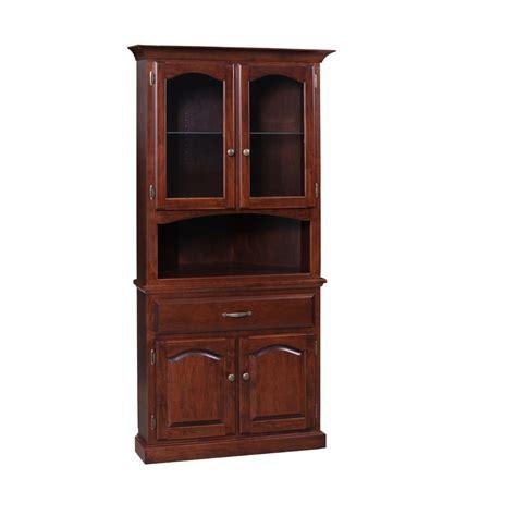 corner hutch cabinet traditional corner cabinet home envy furnishings solid