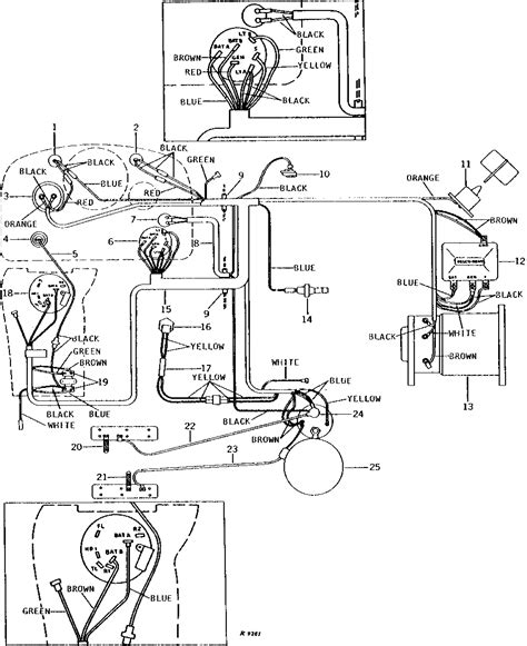 i a deere 4020 tractor and need the wiring diagram for the battery