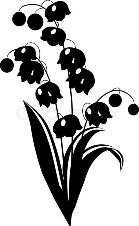 schwarze lilie blume stilisierte schwarzen und wei 223 en blume auf wei 223 em hintergrund stock vektor colourbox