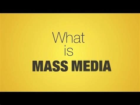Mass Media As A Social Institution Youtube