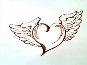 como dibujar un corazon con alas paso a paso como dibujar un corazon con alas YouTube