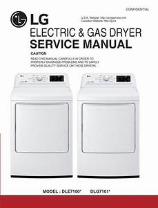 Lg Dle7100 Dle7100w Dlg7101w Dryer Service Manual And