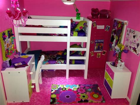 american bunk bed with desk american doll house the pink bedroom we made the
