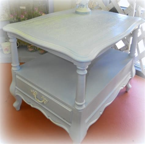 shabby chic blue light blue sweet shabby chic side table