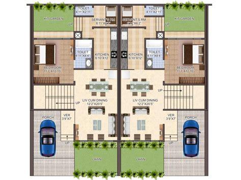 Row Houses Plan Villa Exotica Guwahati Assam Home