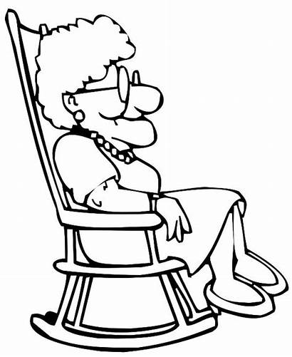 Grandmother Chair Coloring Sitting Rocking Pages Mother