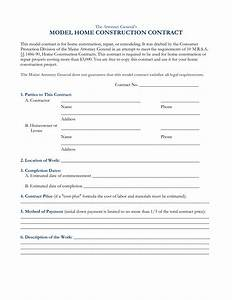 10 best images of free construction contract agreement With house building contract template