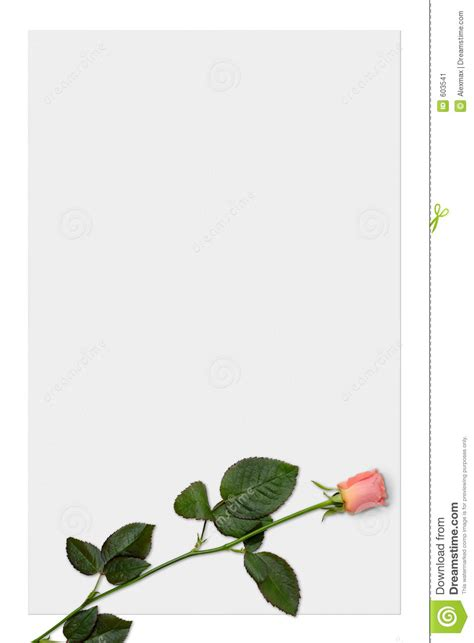 love letter paper  red rose background stock image