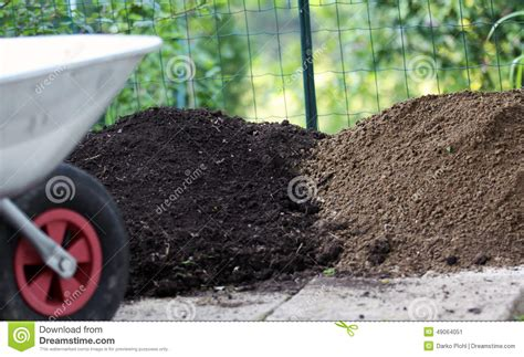Different Types Of Garden Soil Stock Photo-image