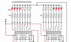 Arduino Program For Cascade Operation Of Two 74hc595