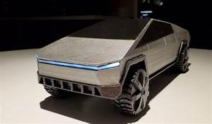 Le Fameux Tesla Cybertruck Imprim U00e9 En 3d