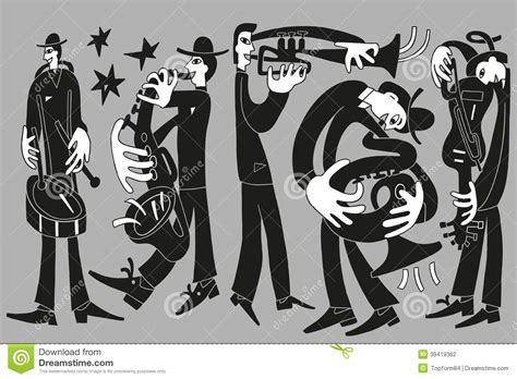 Jazz Musicians Stock Vector. Illustration Of Jazz