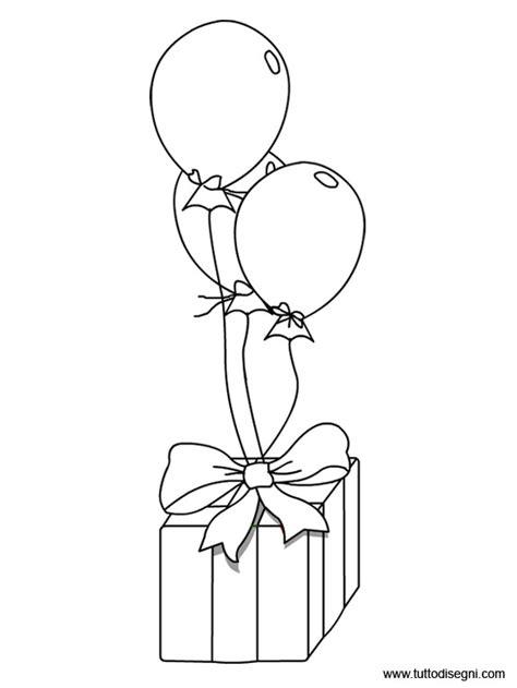 disegno stilizzato bambina con palloncino regalo compleanno con palloncini tuttodisegni