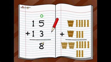 maths adding  digit numbers english youtube