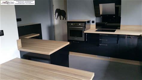 rideau de cuisine design cuisine et bois galerie avec cuisine noir mat et