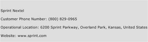 sprint phone number sprint nextel customer service number toll free phone