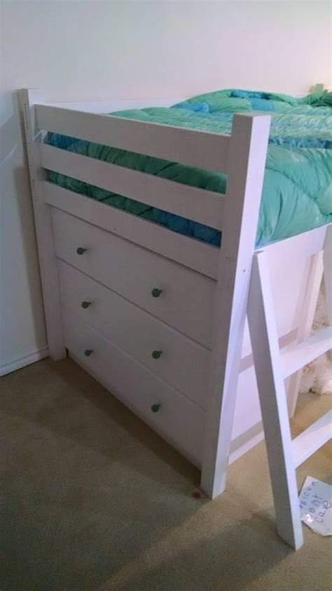 ana white small loft bed  dressers diy projects