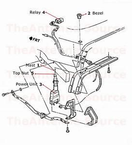 1988 1989 1990 1991 1992 Chevrolet Corvette Antenna Parts