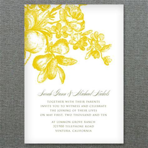 lemon love wedding invitation template  print