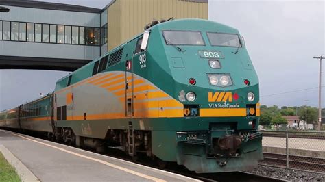 Via Rail Train #66, Via #903, Belleville On (19-sep-2015