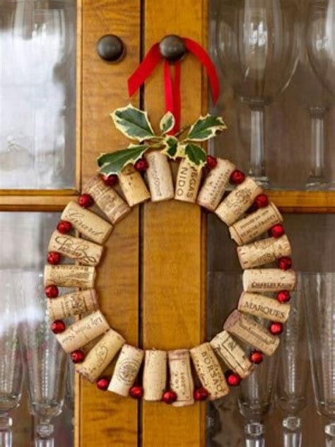 wine cork christmas wreath christmas crafts pinterest