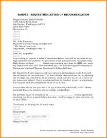 Letter For by 9 Request For Recommendation Letter Sle Farmer Resume