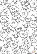 Coloring Pattern Lemon Pages Fruit Printable Paper Adult Printables Styles Categories sketch template