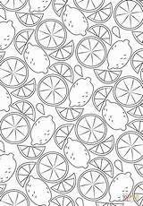 Coloring Pattern Lemon Printable Fruit Printables Supercoloring Paper Categories sketch template