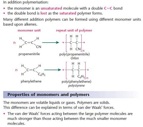 polymers a2 level level revision chemistry aromatics amines amino acids polymers polymers