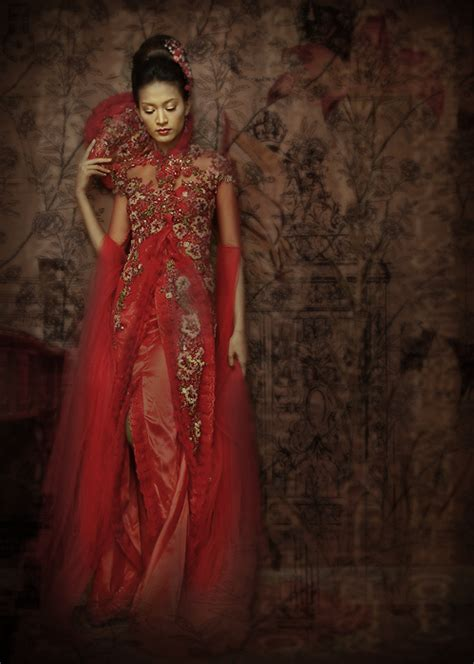 red beauty  post  kebaya indonesia