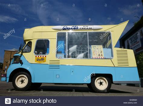 old fashioned wall ls old fashioned walls ice cream van in london stock photo