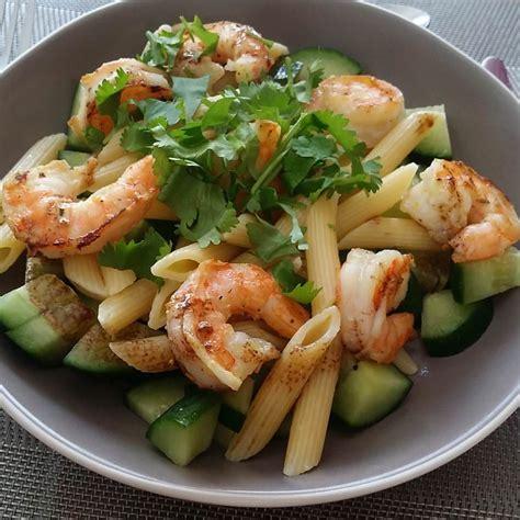 cap cuisine nantes salade de pâtes aux crevettes marinées ma p 39 tite cuisine