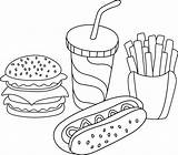 Sandwich Pastrami Vector Illustration Fast Illustrations Straw Fries Hamburger Drink Soft Cup French Dog Clip sketch template