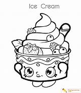 Ice Cream Coloring Cup Drawing Sheet Easy sketch template