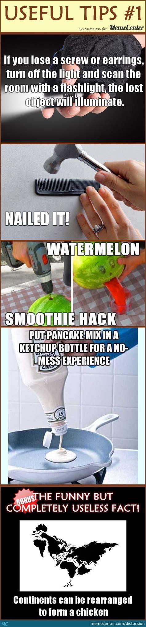 Tips Meme - useful tips 1 by distorsion meme center