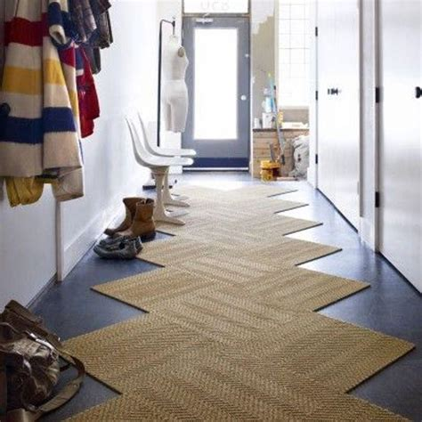 tapis de couloir au design unique pour  hall dentree