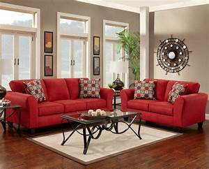 how to decorate with a red couch