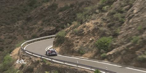 guardrail saves rally car   terrifying crash