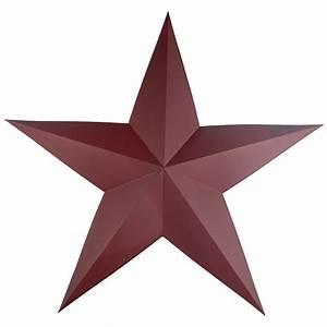 Large Burgundy Dimensional Barn Star - Americana Decor