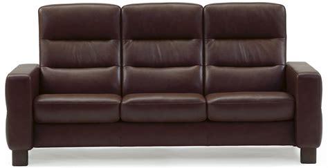 High Back Sofa by Stressless Wave 1125030 High Back Reclining Sofa Dunk