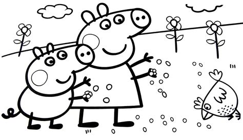 peppa pig spring coloring book   thousand
