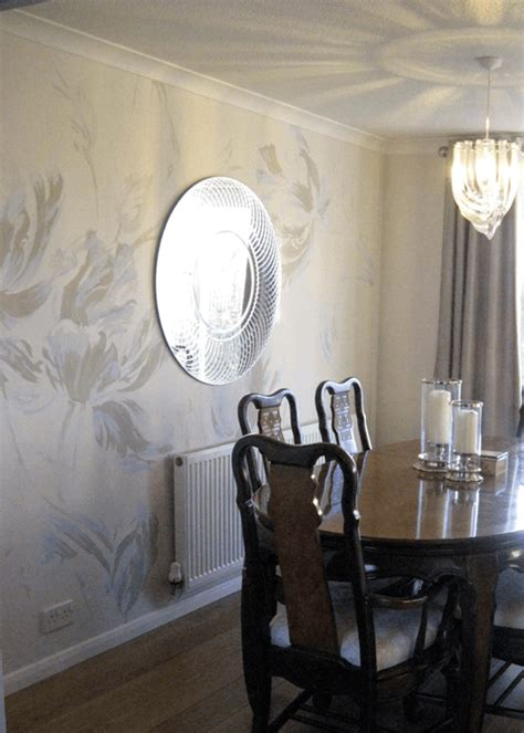 Paint Design For Living Rooms by Dining Room Feature Wall Artistic Touch