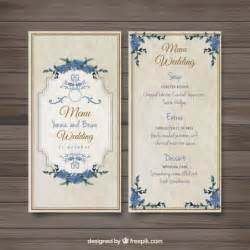 support menu mariage fashioned wedding menu vector free