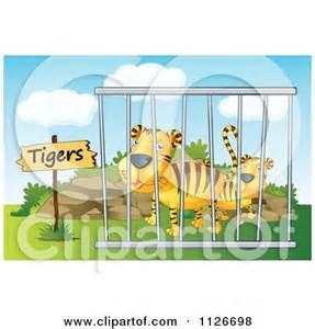 Cartoon Zoo Cages Clip Art